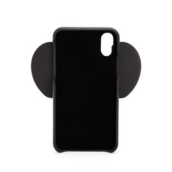 LOEWE iPhone X/XS用 エレファント カバー ブラック front