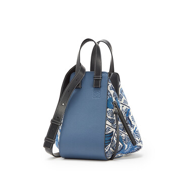 LOEWE Hammock Tiles Small Bag Blue front
