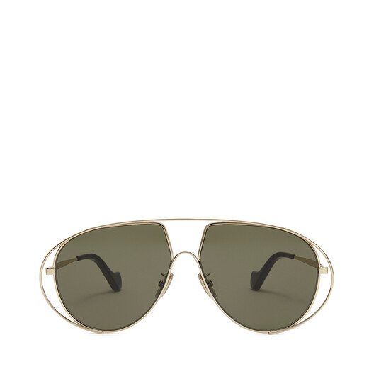 LOEWE Metal Pilot Sunglasses Bottle Green front