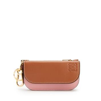 LOEWE Gate Mini Wallet Tan/Medium Pink front