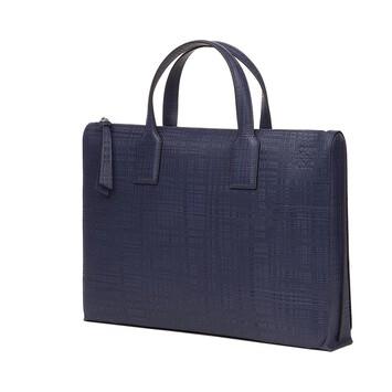 LOEWE Goya Simple Briefcase Navy Blue front