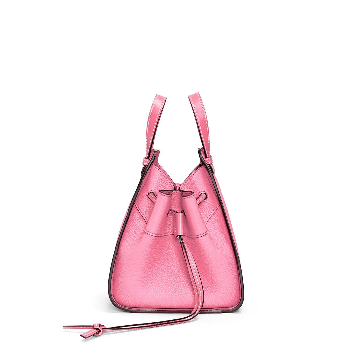 LOEWE Hammock Drawstring Mini Bag Wild Rose front