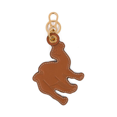 LOEWE Camel Leather Charm Tan front