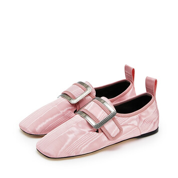 LOEWE Buckle Slipper Moire Candy front