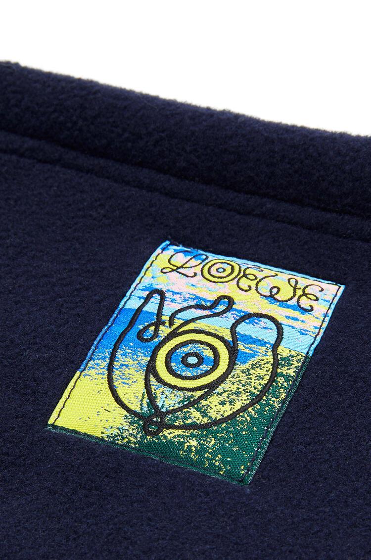 LOEWE Fleece snood in polyester Navy Blue pdp_rd