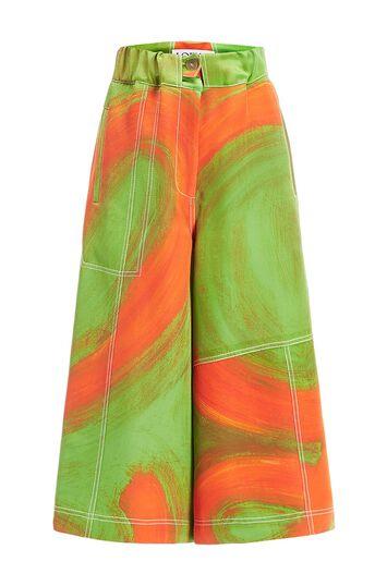LOEWE Painted Shorts Verde/Naranja front