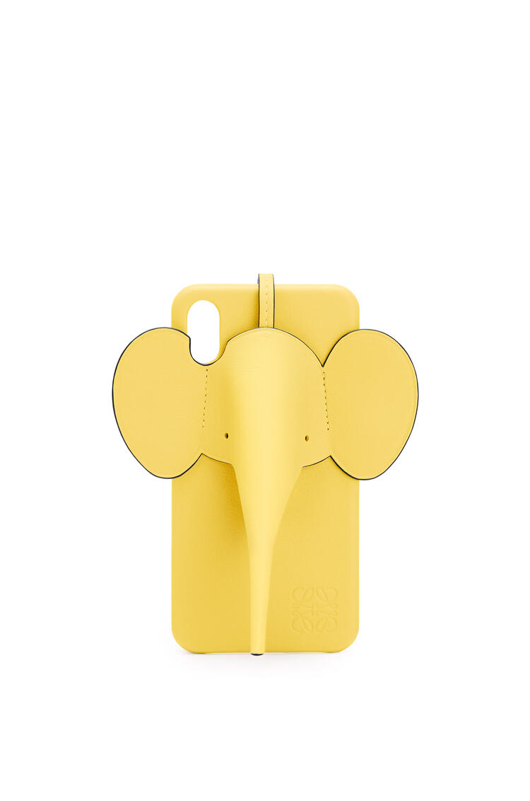 LOEWE Elephant cover for iPhone XS Max in classic calfskin Yellow pdp_rd