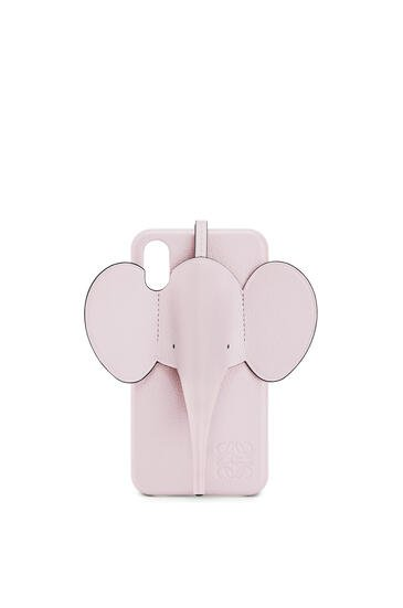 LOEWE Elephant cover for iPhone X/XS in pearlized calfskin Icy Pink pdp_rd