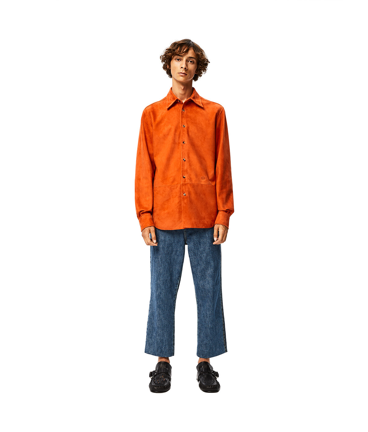 LOEWE Shirt 橘 front
