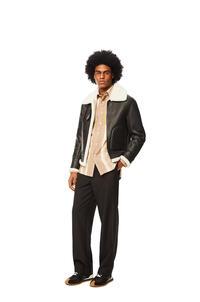 LOEWE Aviator jacket in shearling Black/White pdp_rd