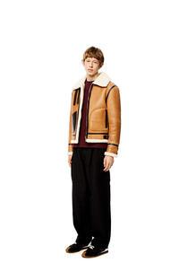 LOEWE Aviator jacket in shearling Camel pdp_rd