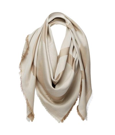 LOEWE 140X140 Shawl Anagram Beige/White front