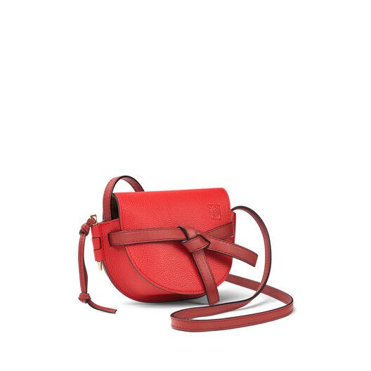 LOEWE Mini Gate Bag Scarlet Red/Burnt Red all