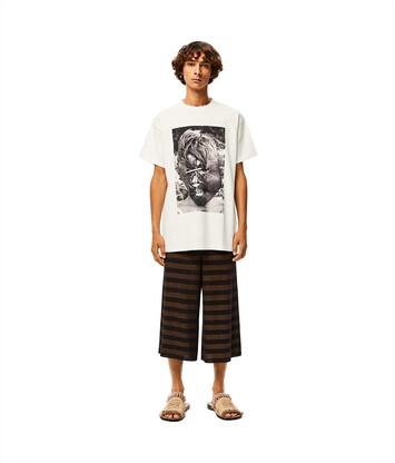LOEWE Ken Heyman Ov T-Shirt ecru front