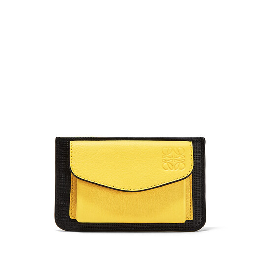 LOEWE Pocket/Card Holder Black/Yellow front