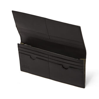 LOEWE Billet Largo Horizontal Puzzle Verde Kaki front