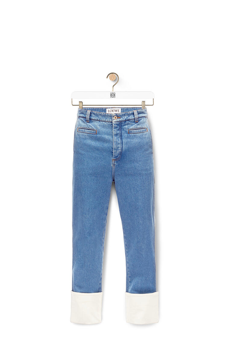 LOEWE Fisherman stonewash jeans in cotton Blue pdp_rd