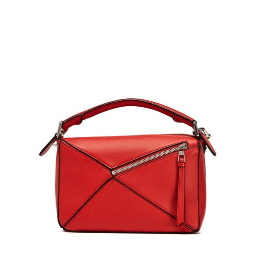 LOEWE Puzzle Small Bag 猩红色 front