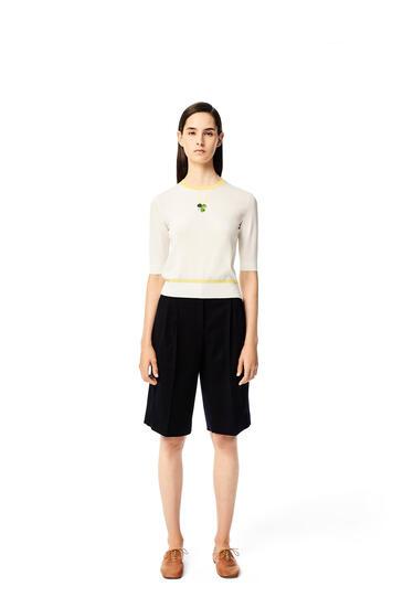 LOEWE Shorts plisados en lana Marino Oscuro pdp_rd