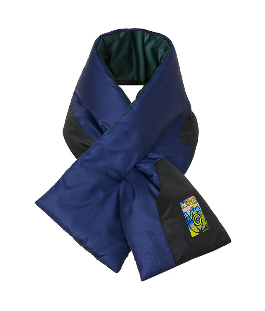 LOEWE 16X90 Eln Nylon Puffed Scarf Dark Blue front