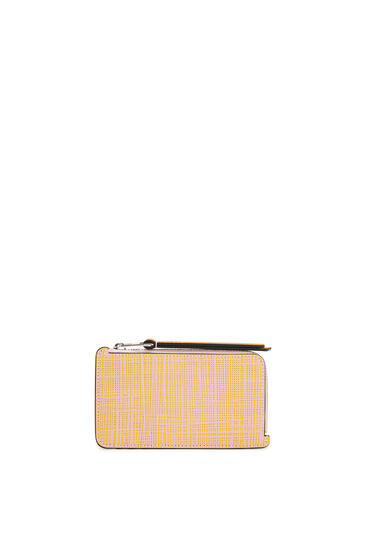 LOEWE Large Coin Cardholder In Calfskin Yellow/Pink pdp_rd