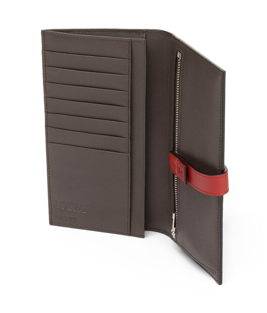 LOEWE Large Vertical Wallet Scarlet Red/Brick Red all