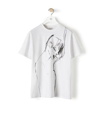 LOEWE Portrait Print T-Shirt ホワイト front