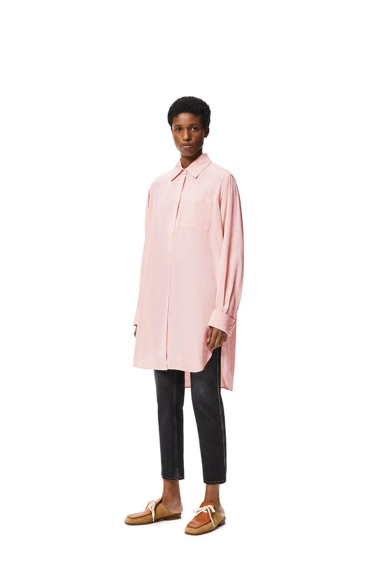 LOEWE Anagram jacquard  long shirt in silk Pale Salmon pdp_rd