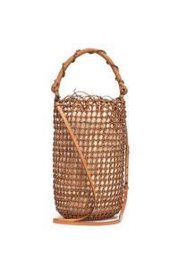 LOEWE Bucket Mesh bag in woven calfskin Tan pdp_rd