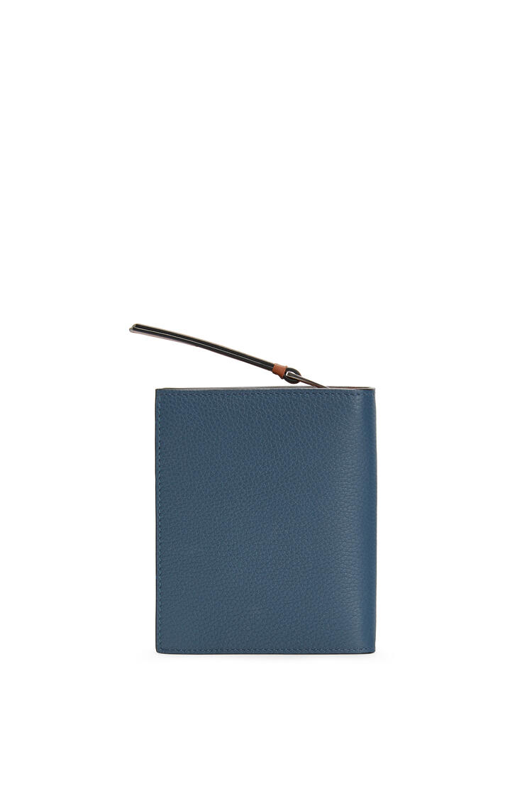 LOEWE Compact zip wallet in soft grained calfskin Steel Blue/Tan pdp_rd