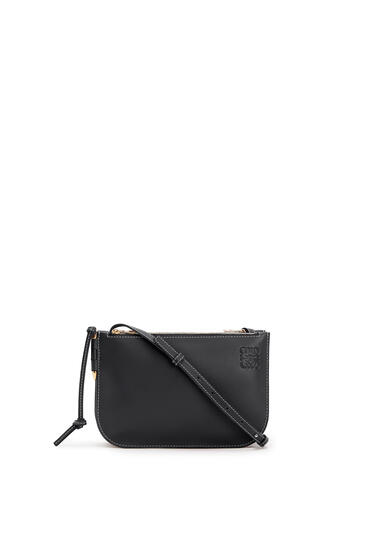 LOEWE Gate Double Zip pouch in soft calfskin 黑色 pdp_rd