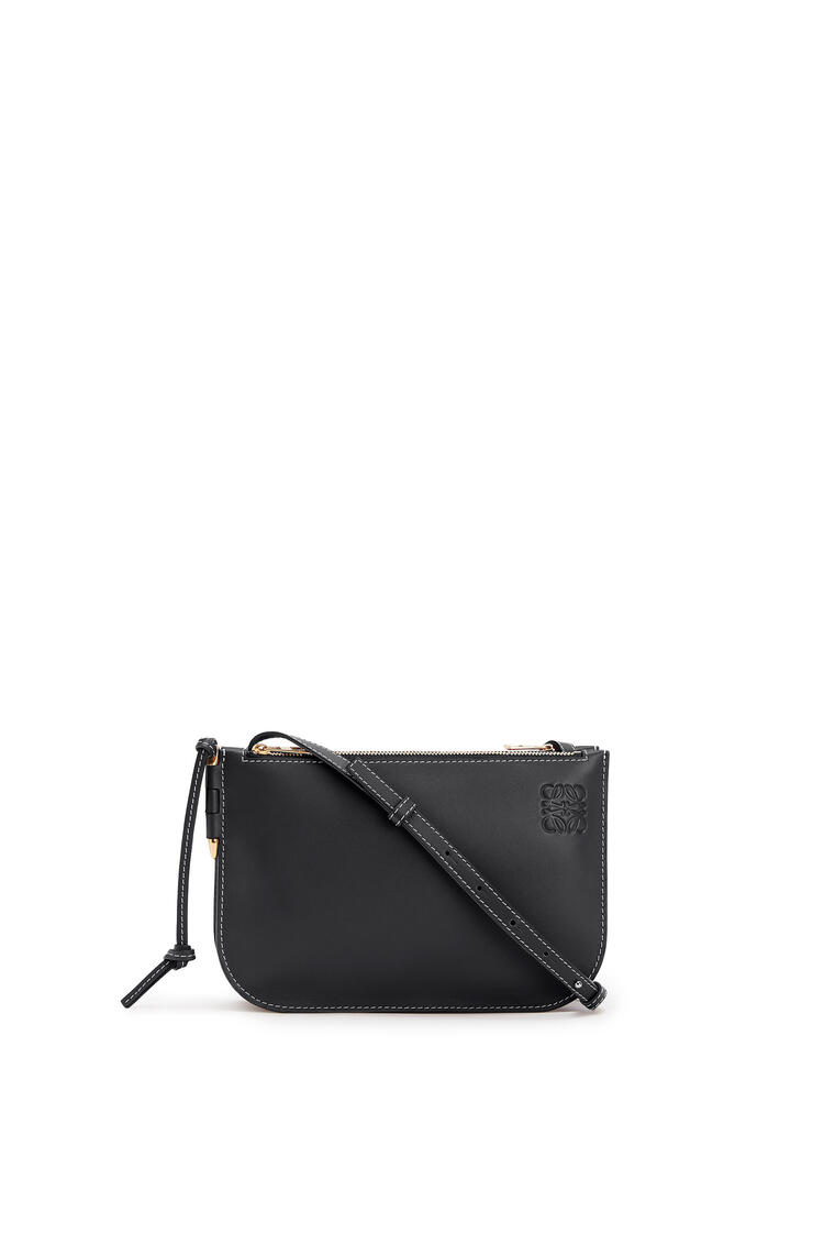 LOEWE Gate Double Zip pouch in soft calfskin Black pdp_rd