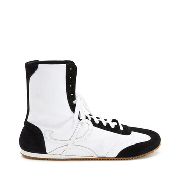 LOEWE High Top Ballet Runner White/Black front