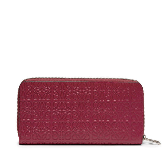LOEWE Zip Around Wallet 覆盆莓色 all