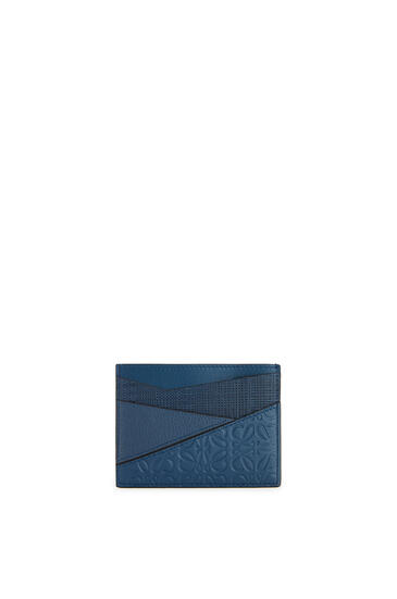 LOEWE Puzzle plain cardholder in calfskin Indigo pdp_rd