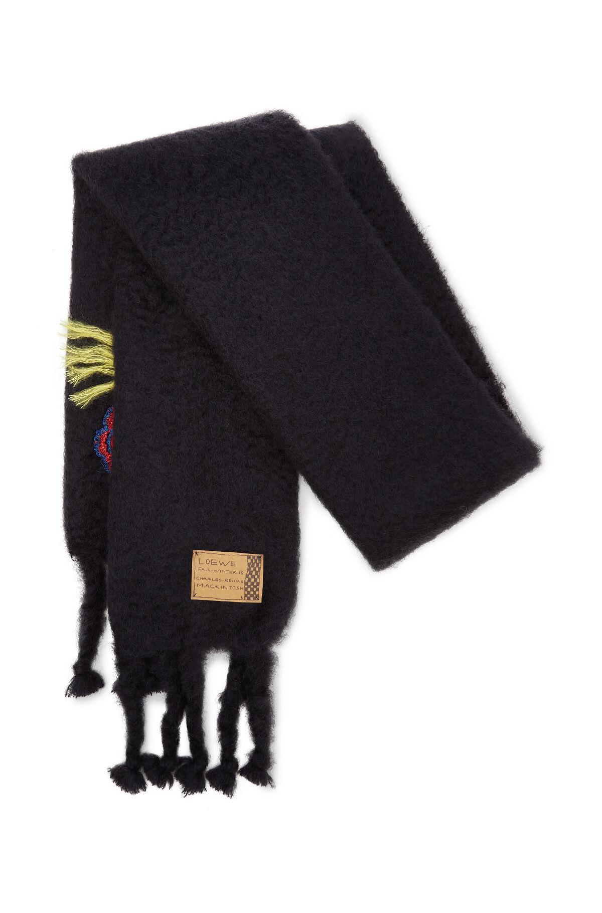 LOEWE 45X230 スカーフブーケ ブラック/マルチカラー all