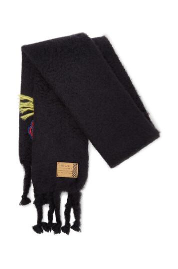 LOEWE 45X230 Scarf Bouquet Black/Multicolor front