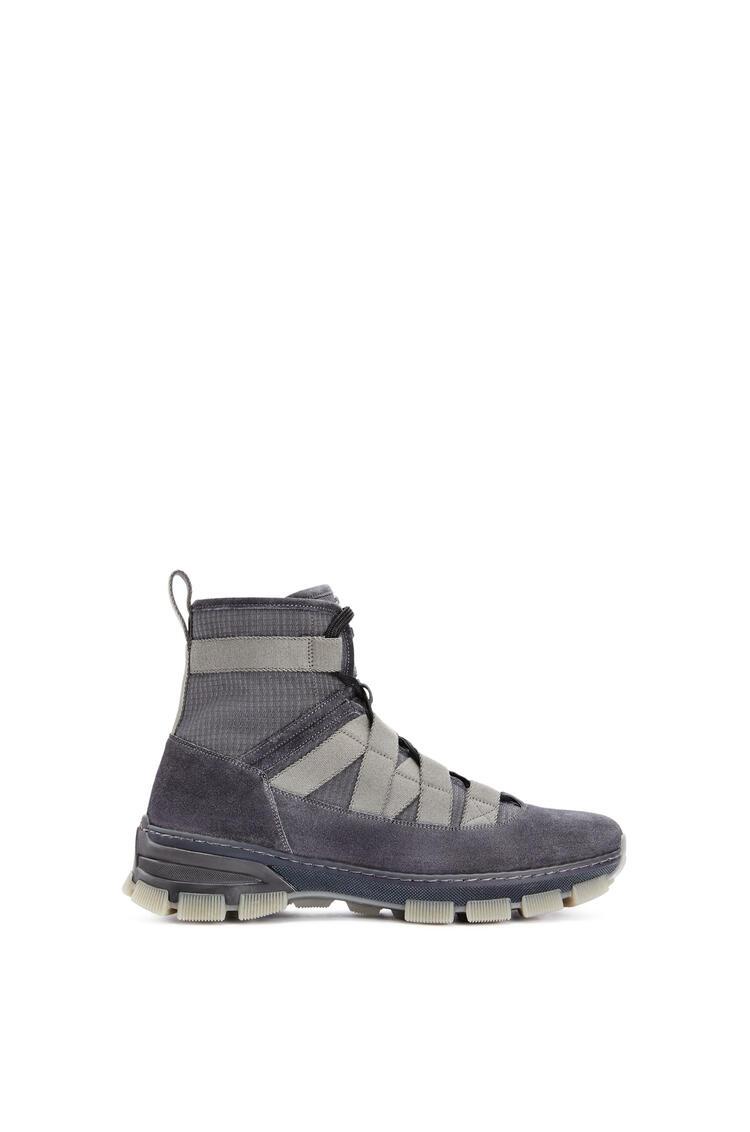 LOEWE Army boot in split calfskin Grey Blue pdp_rd