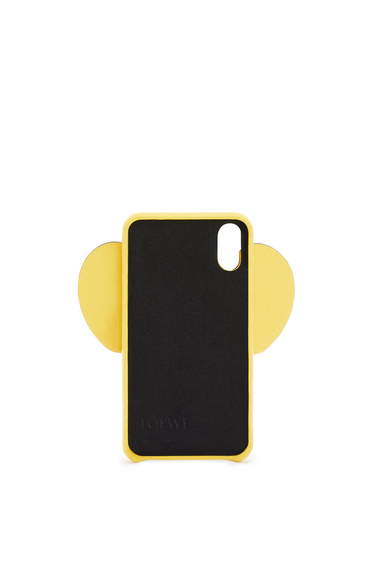 LOEWE Elephant cover for iPhone X/XS in classic calfskin Yellow pdp_rd