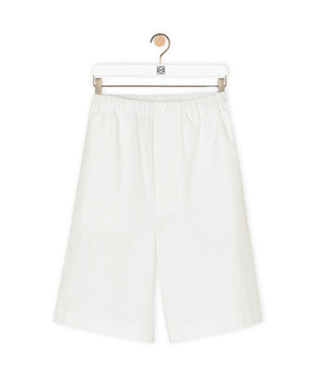 LOEWE Shorts 白色 front