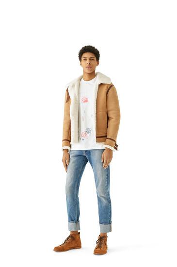 LOEWE Shearling aviator jacket in novack and nappa 駝色 pdp_rd