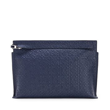 LOEWE Repeat T Pouch Navy Blue front