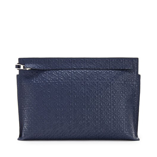 LOEWE Repeat T Pouch 海军蓝 front