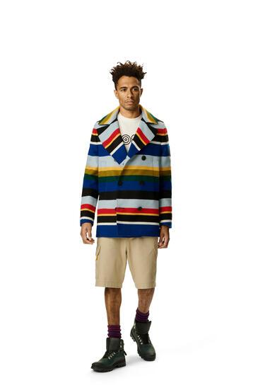 LOEWE Chaquetón en lana de rayas Multicolor pdp_rd