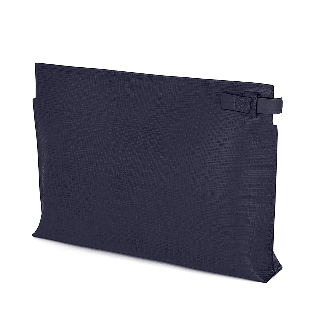 LOEWE T Pouch Linen 海军蓝 front