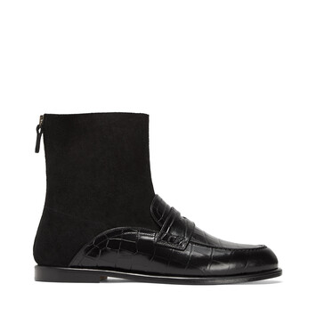 LOEWE Sock Boot Loafer Black front