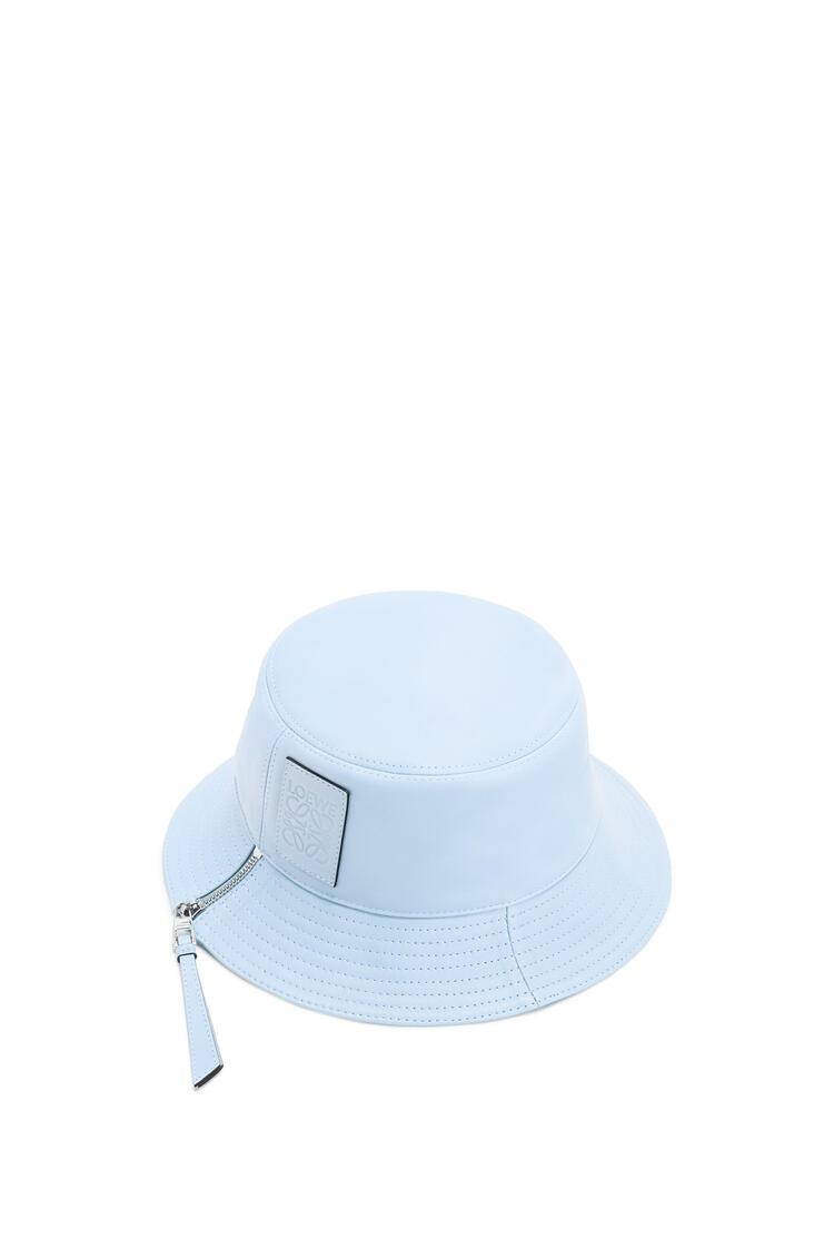 LOEWE Sombrero de pescador en piel napa Azul Claro pdp_rd