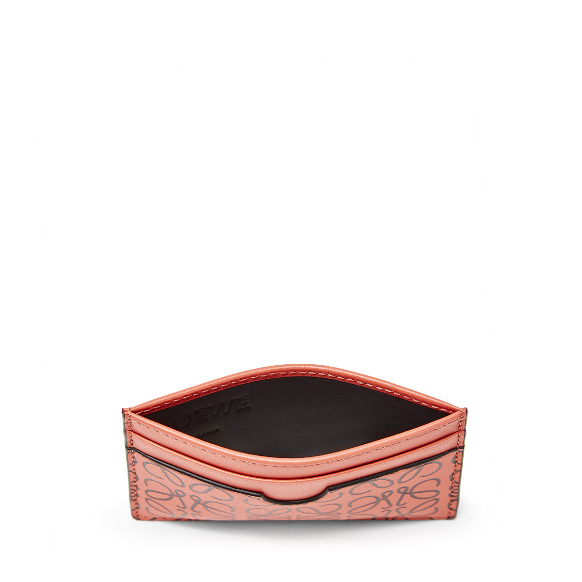 LOEWE Plain Card Holder Pink Tulip/Black all