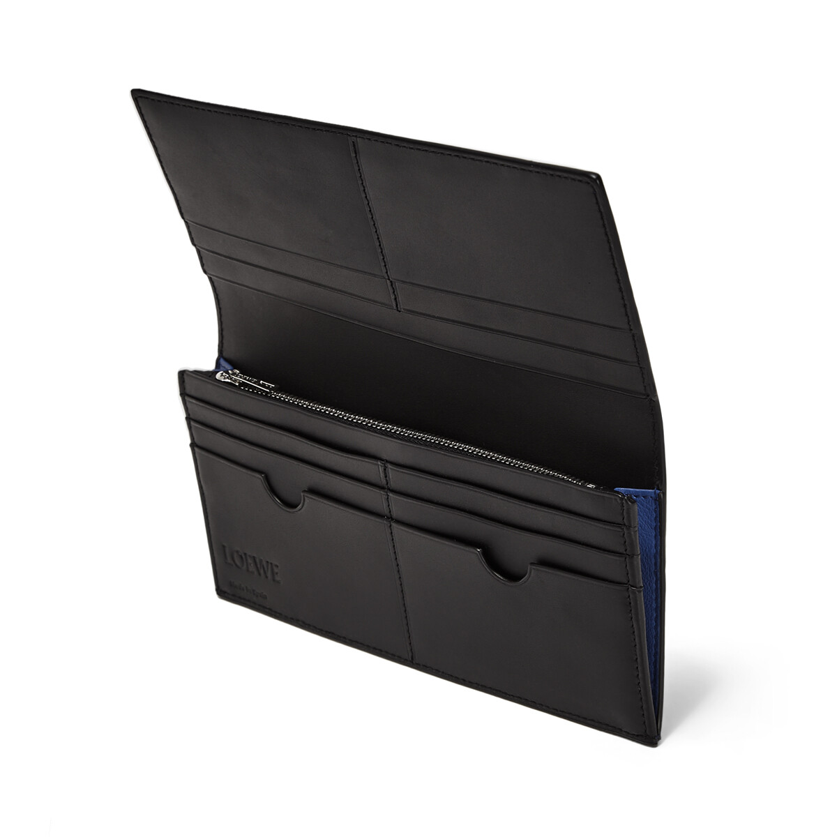 LOEWE Puzzle Long Horizontal Wallet Pacific Blue/Seaside Blue front