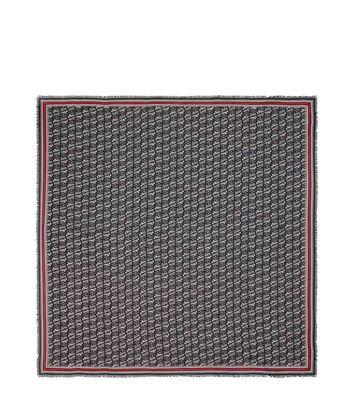 LOEWE 140X140 Paula Print Scarf Black/Red front